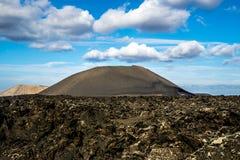 Зона Timanfaya вулканическая в Лансароте, Стоковое Изображение RF