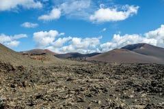 Зона Timanfaya вулканическая в Лансароте, Стоковое Фото