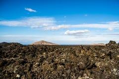 Зона Timanfaya вулканическая в Лансароте, Стоковые Изображения