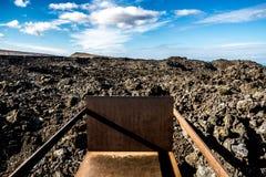Зона Timanfaya вулканическая в Лансароте, Стоковые Фотографии RF