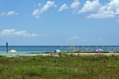 3 зонтика пляжа Стоковое Изображение