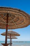 3 зонтика пляжа Стоковые Изображения