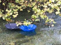 Зонтики в реке Стоковая Фотография