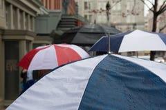 Зонтики в DC Вашингтона Стоковое фото RF