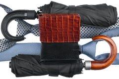 2 зонтики и связь и портмона Стоковые Изображения