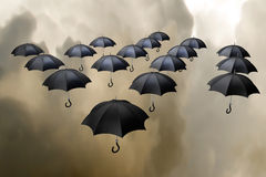 зонтики летания Стоковое Фото