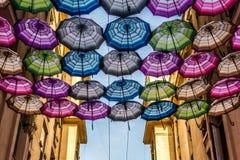 Зонтики летания Стоковая Фотография RF