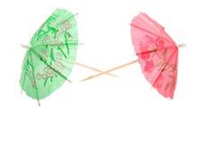 зонтики мороженого коктеила цветастые Стоковое Изображение