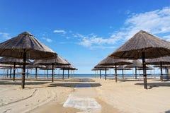 Зонтики на песке Стоковое фото RF