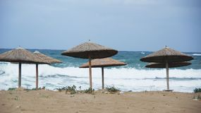 Зонтики пляжа Стоковые Изображения RF