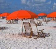 Зонтики пляжа Стоковые Изображения