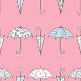 Зонтики с картинами другого цвета вектор иллюстрации безшовный иллюстрация вектора