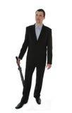 зонтик бизнесмена стоковые фотографии rf