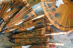 Зонтик бумаги Таиланда Стоковое фото RF