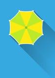 Зонтик, взгляд сверху иллюстрация вектора