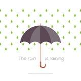 Зонтик в дожде Стоковое Изображение