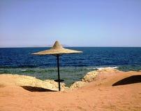 Зонтик в шейхе Sharm El стоковое изображение rf