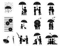 Зонтик влюбленности бесплатная иллюстрация