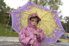 зонтик девушки Стоковое Изображение