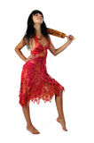 зонтик девушки ся Стоковое Изображение RF