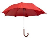 Зонтик - изолированный красный цвет Стоковые Фото