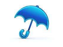 зонтик иконы глянцеватый Стоковые Изображения