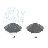 Зонтик и дождь Стоковые Фотографии RF