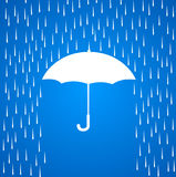 Зонтик и дождь Стоковое Фото