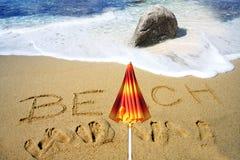 зонтик моря пляжа тропический Стоковая Фотография