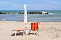 Зонтик на пляже Стоковая Фотография