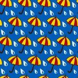 зонтик ненастного песочного сезона пляжа тропический Стоковые Фотографии RF