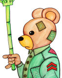 зонтик острословия медведя Стоковое фото RF