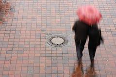 зонтик пар вниз Стоковые Фотографии RF