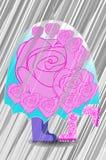 зонтик пар любящий вниз иллюстрация вектора