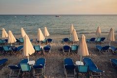 зонтик пляжа закрытый Стоковое Фото
