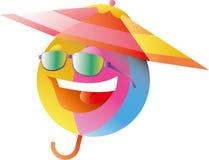 зонтик пляжа шарика вниз Стоковое Фото