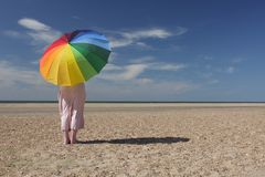 зонтик пляжа Стоковые Фотографии RF