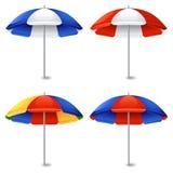 зонтик праздника принципиальной схемы пляжа Стоковое Фото