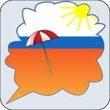 зонтик праздника принципиальной схемы пляжа иллюстрация вектора