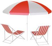 Зонтик пляжа бесплатная иллюстрация