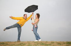 зонтик семьи Стоковые Изображения