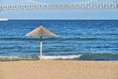 Зонтик соломы на пляже Gwangalli Стоковые Изображения