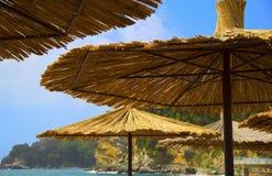 Зонтик соломы Стоковое Изображение
