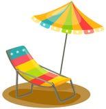 зонтик стула напольный Стоковое Фото