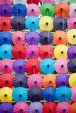Зонтик сделанный бумаги/ткани. Искусство Стоковое Изображение