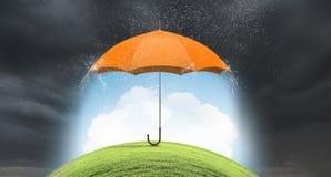 Зонтик цвета в небе Мультимедиа Стоковое Фото