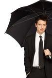 зонтик человека стильный стоковые фотографии rf