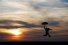 зонтик человека Стоковое фото RF