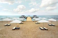 Зонтик Chairs& Стоковое Фото