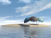 Зонты Стоковое фото RF